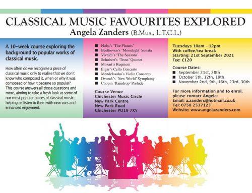 New Music Appreciation Course September 2021